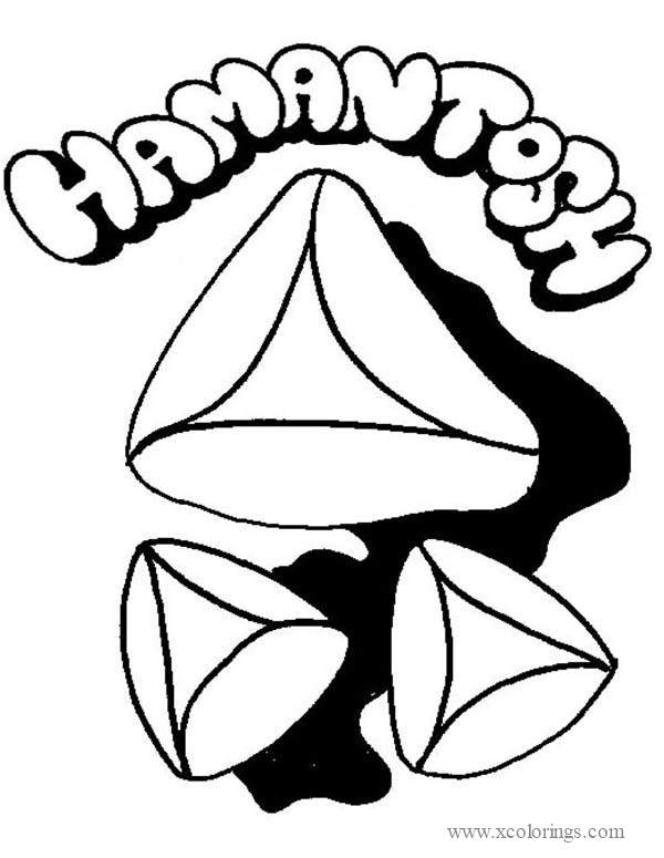 Hamantosh Of Purim Coloring Pages Xcolorings Com