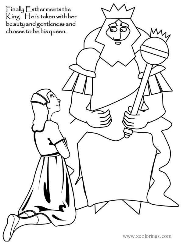 Purim Ahasuerus And Esther Coloring Pages Xcolorings Com
