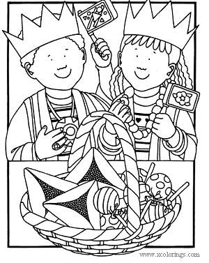 Free Purim Holiday Coloring Pages printable