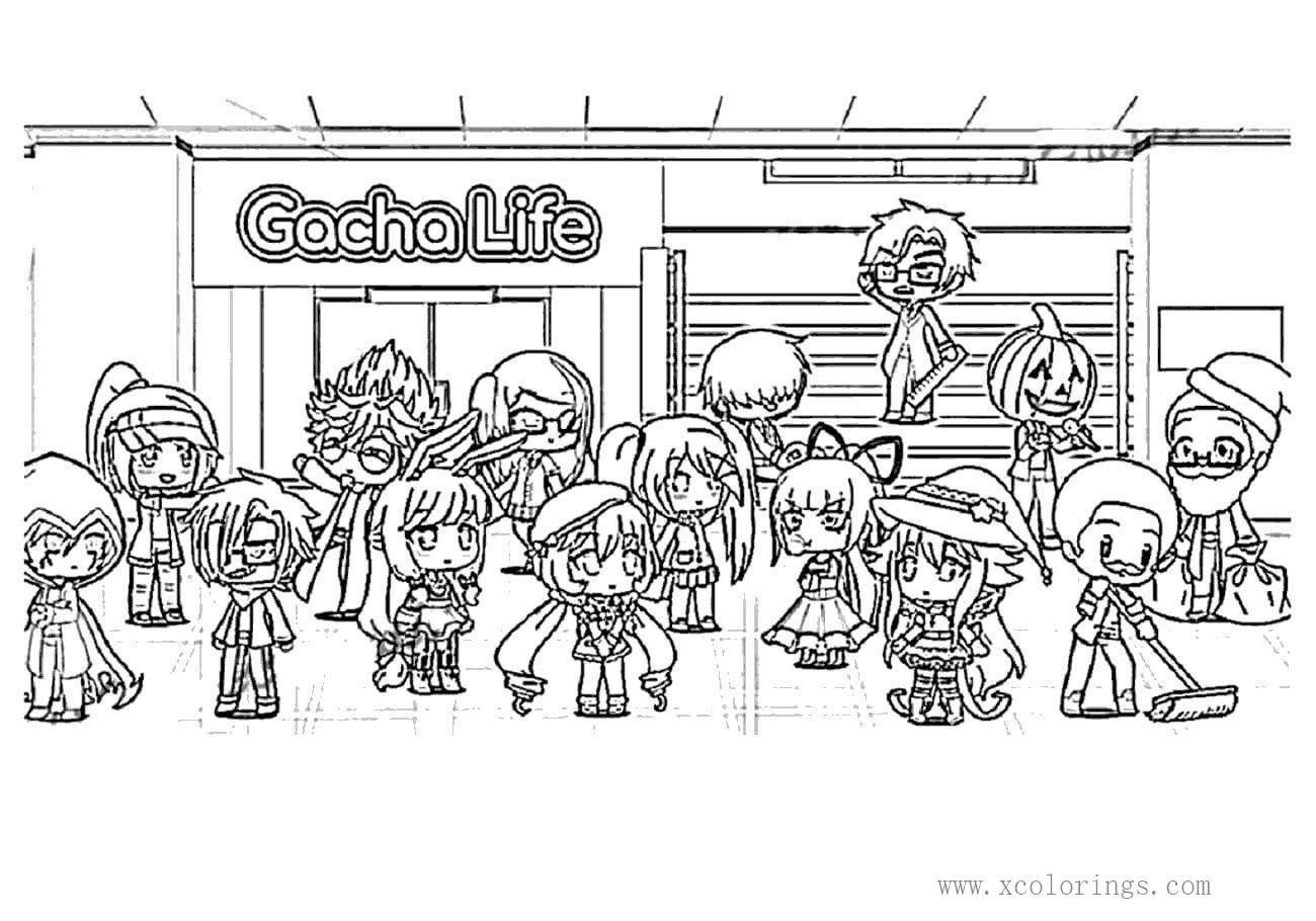 Characters From Gacha Life Coloring Pages Xcolorings Com