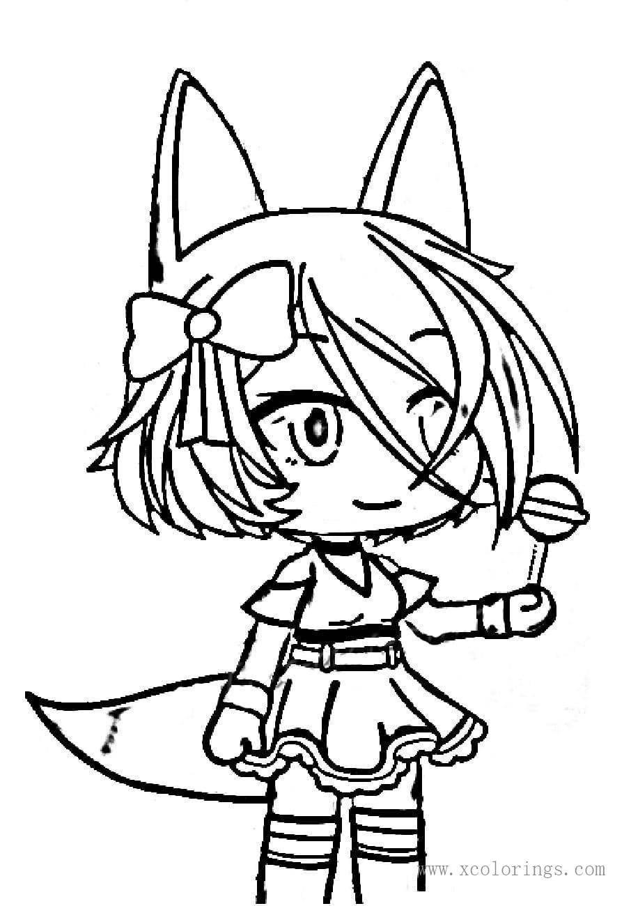 Fox Girl From Gacha Life Coloring Pages Xcolorings Com
