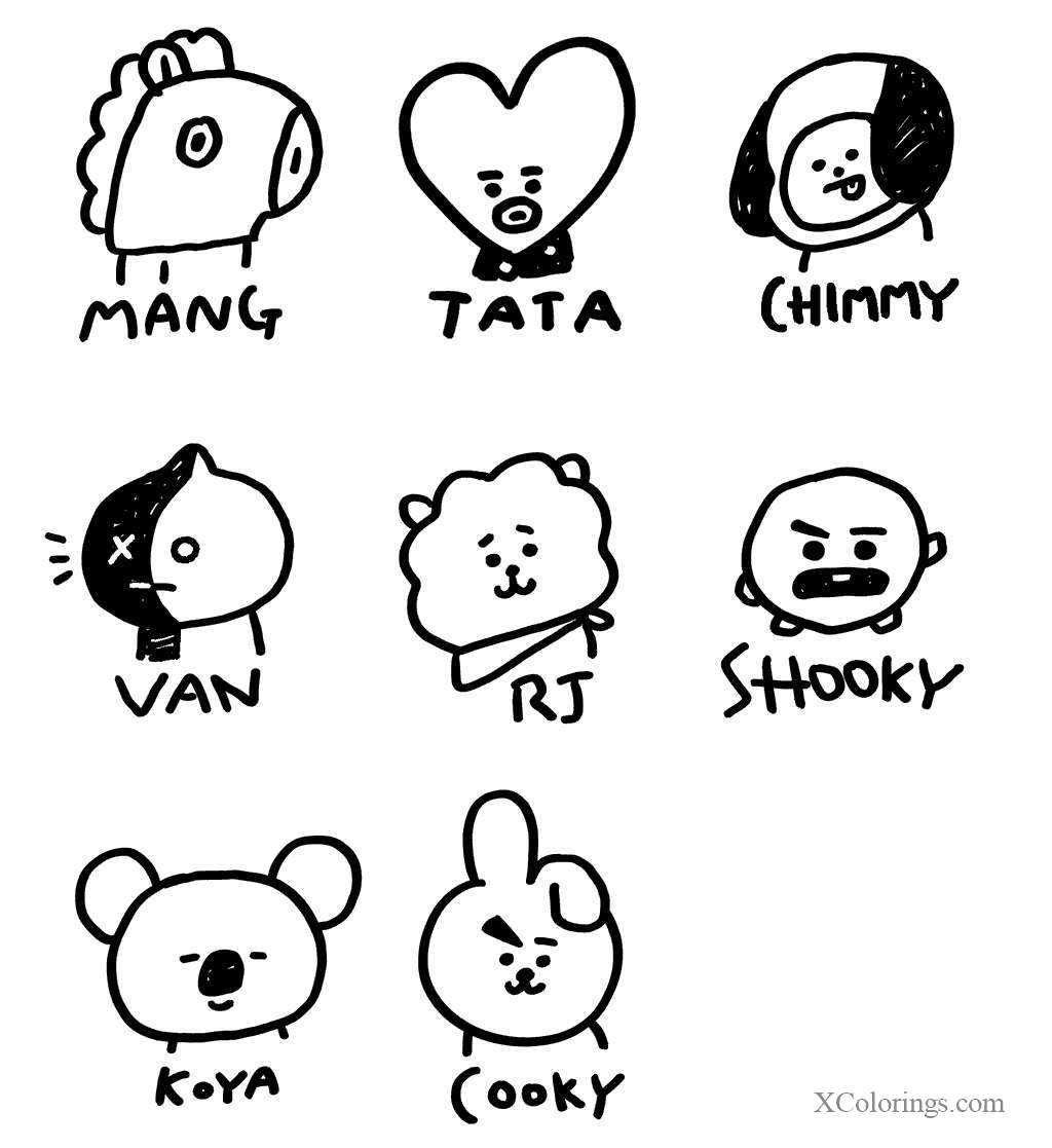 Bt32 Coloring Pages Characters with Name   XColorings.com