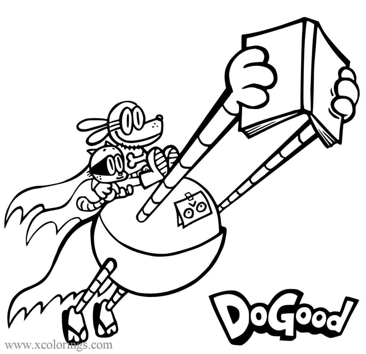 Dog Man Coloring Pages Archives - XColorings