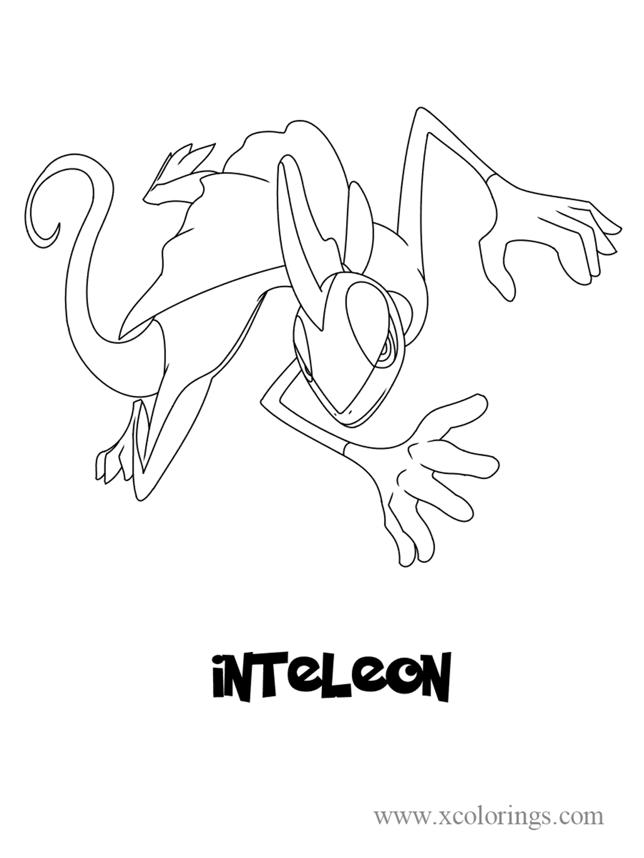 Pokemon sword and shield Inteleon Coloring Pages ...