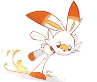 Pokemon Sword And Shield Scorbunny Coloring Pages Xcolorings Com