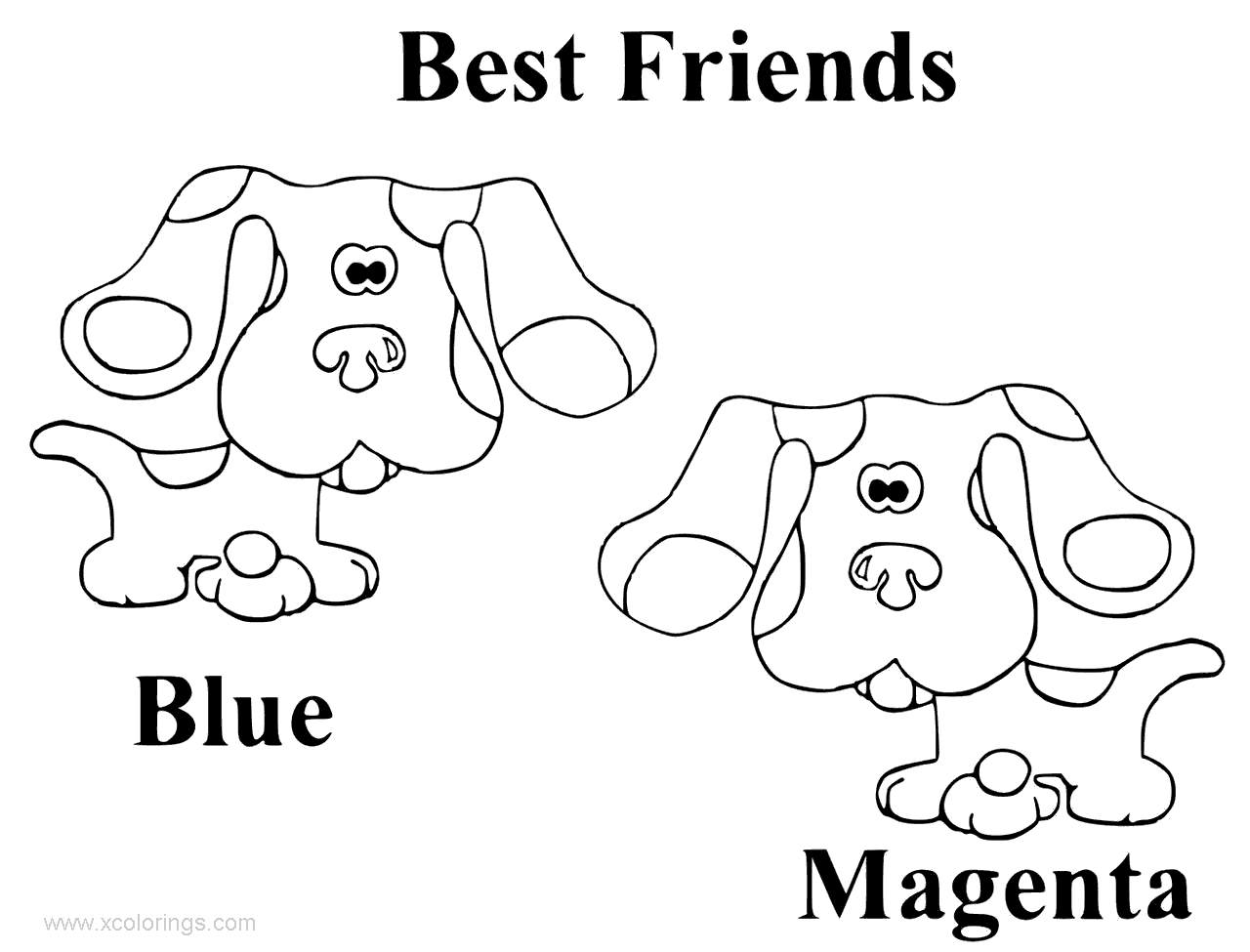 Best Friends From Blues Clues Coloring Pages Xcolorings Com