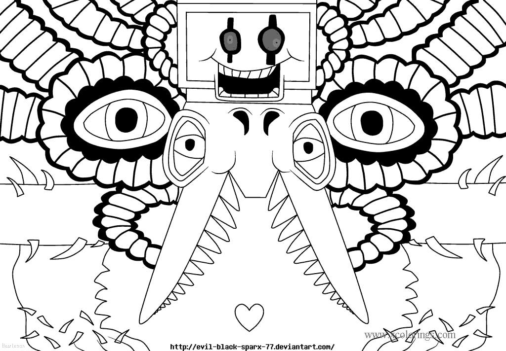 Printable Undertale Coloring Pages - XColorings.com