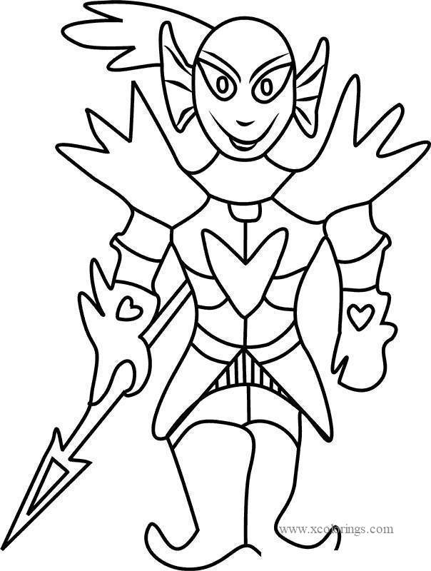 Undertale Undying Coloring Pages - XColorings.com