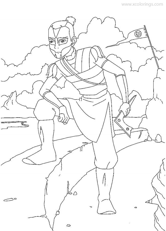 Avatar The Last Airbender Coloring Pages Hero Sokka Xcolorings Com