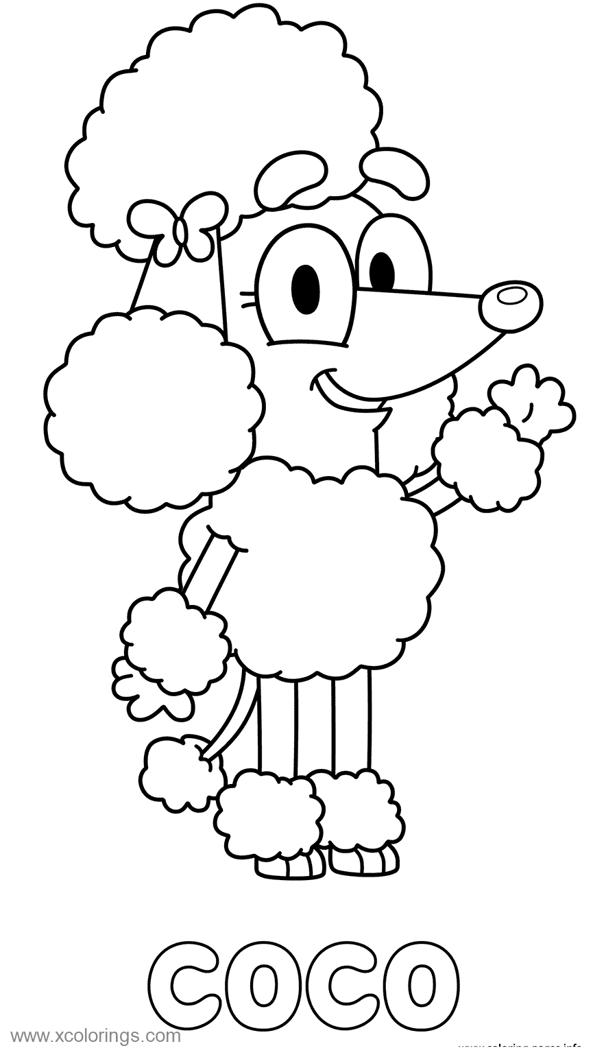 Free Coco from Bluey Coloring Pages printable