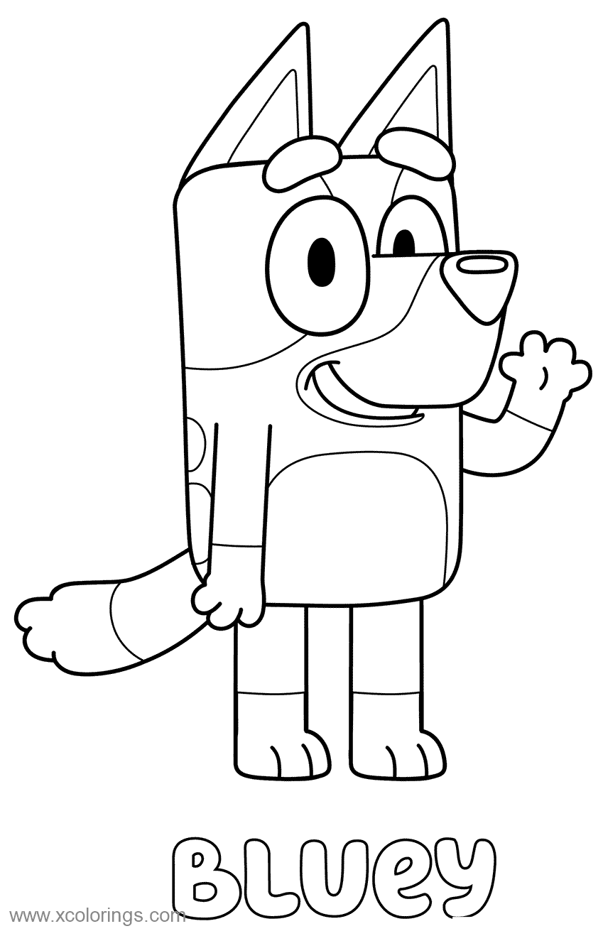 Free Free Bluey Coloring Pages printable