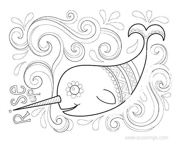 Mandala Narwhal Coloring Pages - XColorings.com