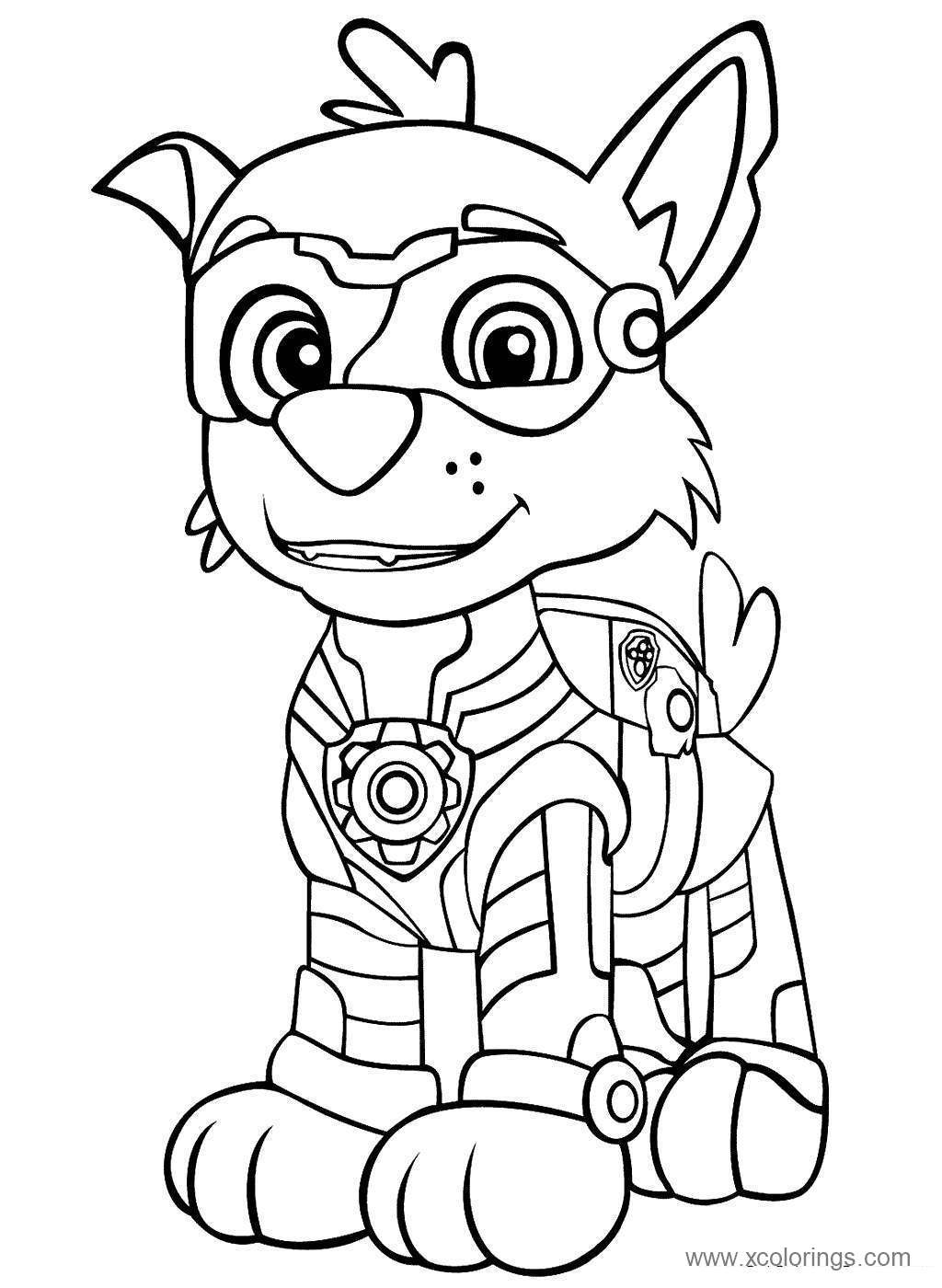 Paw Patrol Mighty Pups Coloring Pages Archives Xcolorings