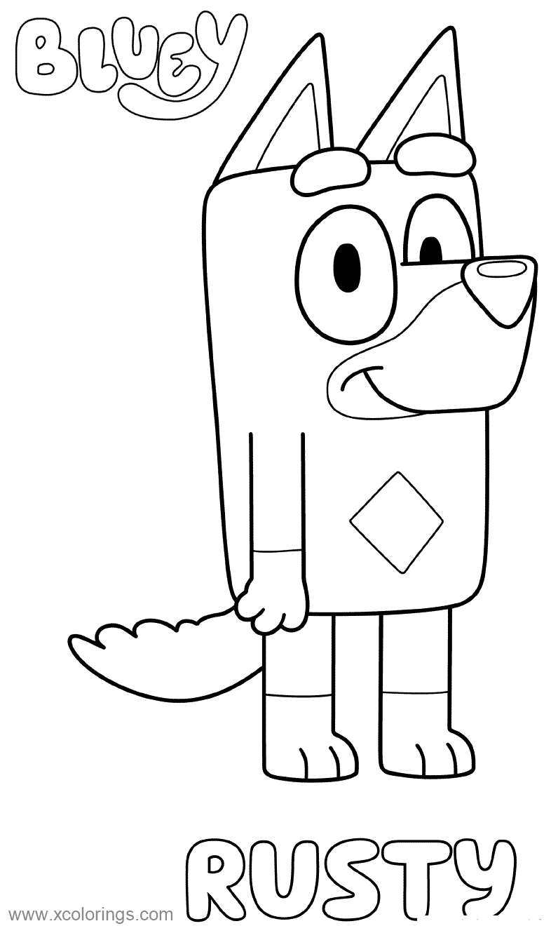 Free Rusty from Bluey Coloring Pages printable
