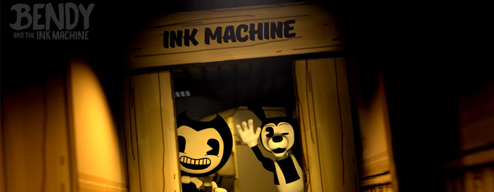 collection of Bendy and the ink machine coloring pages
