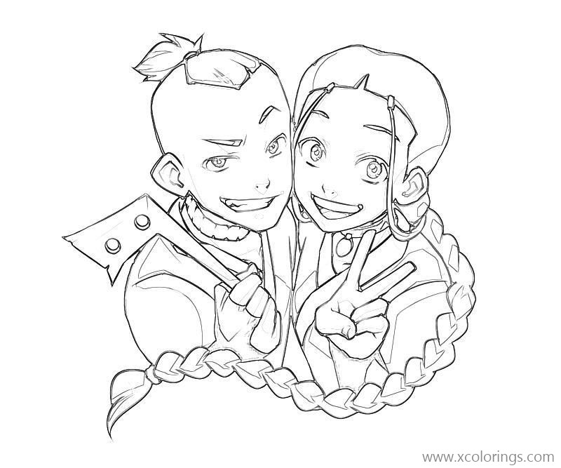 Avatar The Last Airbender Ty Lee Coloring Pages Xcolorings Com