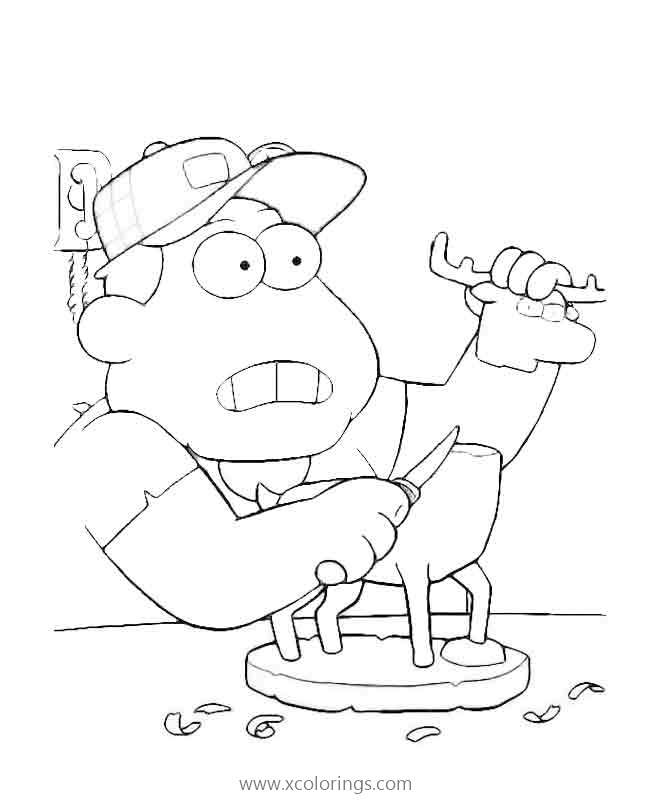 Big City Greens Coloring Pages Characters Bill Green Xcolorings Com