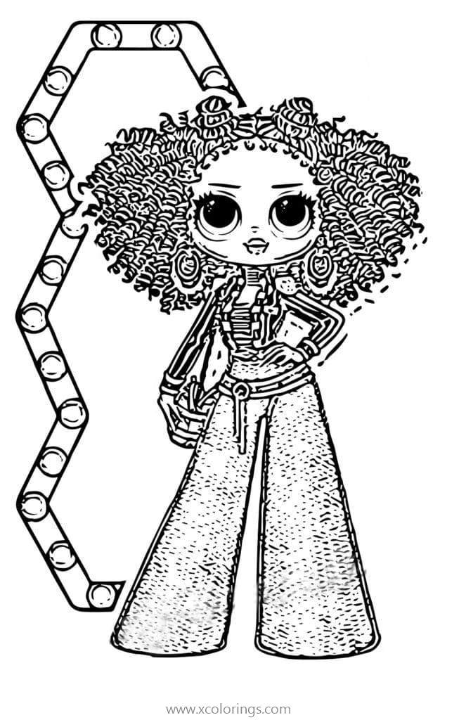 LOL OMG Dolls Coloring Pages Royal Bee - XColorings.com