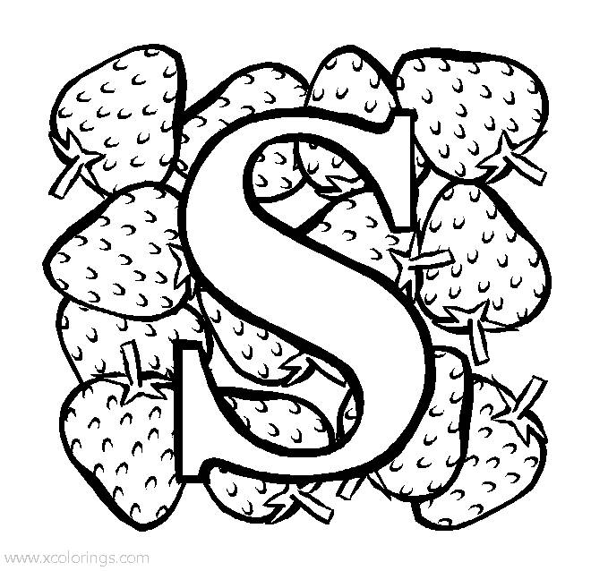 Free Strawberry Coloring Pages Printable, Download Free Clip Art ... | 638x660