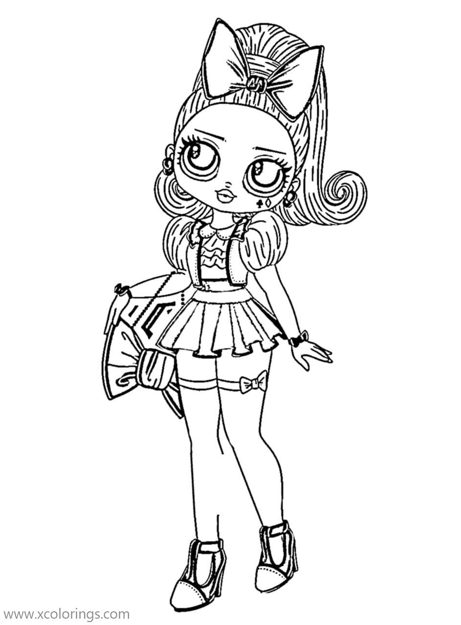OMG Doll Coloring Pages Wandering B.B - XColorings.com