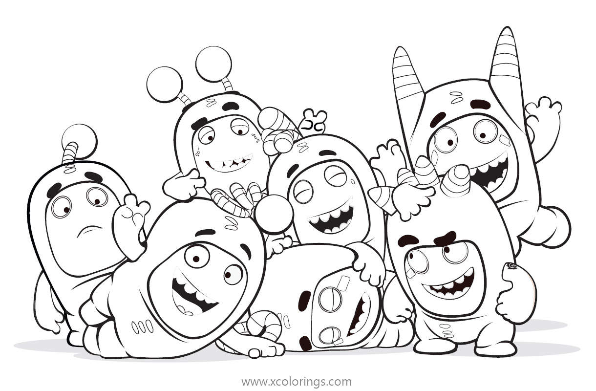 Oddbods Characters Coloring Pages Xcolorings Com
