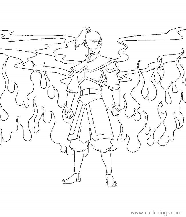 Prince Zuko From Avatar The Last Airbender Coloring Pages Xcolorings Com