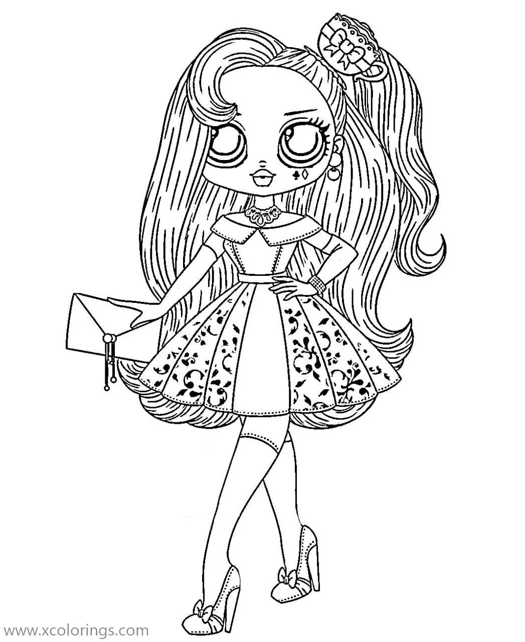 Real Lady From Lol Omg Dolls Coloring Pages Xcolorings Com