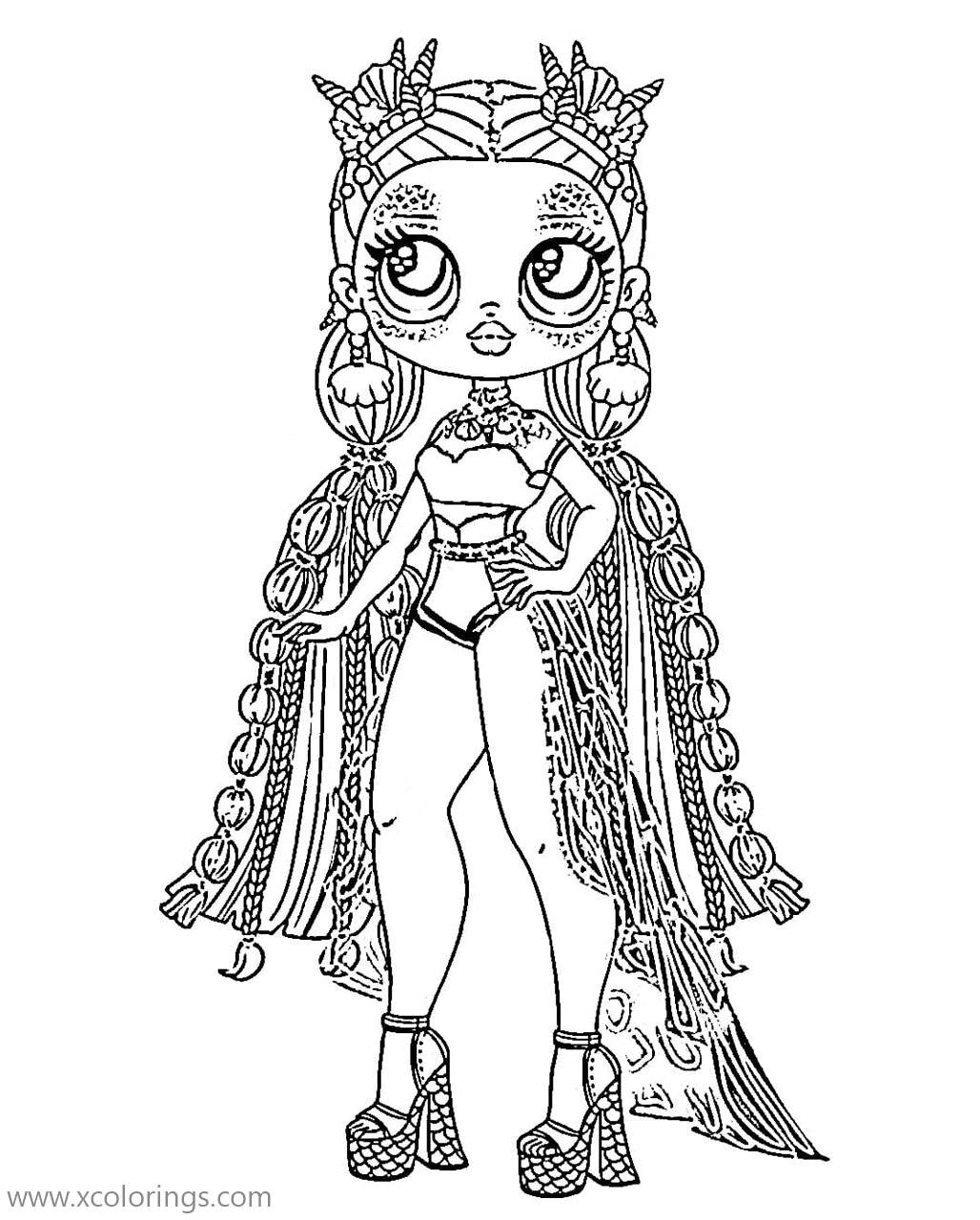 Sea Princess From Lol Omg Doll Coloring Pages Xcolorings Com