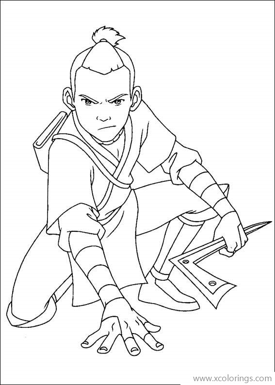 Sokka From Avatar The Last Airbender Coloring Pages Xcolorings Com
