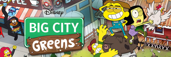 collection of Big City Greens coloring pages