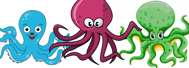 collection of Octopus coloring pages