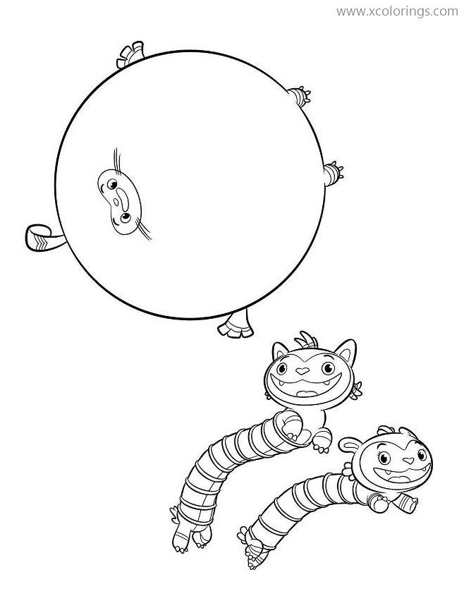 Abby Hatcher Coloring Pages Mo Bo And Teeny Terry Xcolorings Com