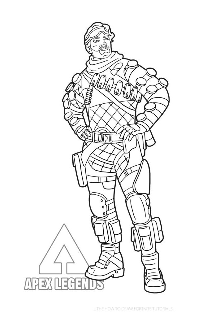 Free Apex Legends Coloring Pages Mirage printable