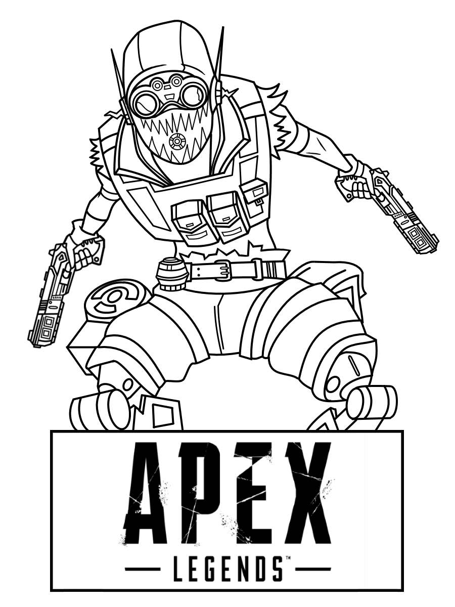 Free Apex Legends Octane Coloring Pages printable