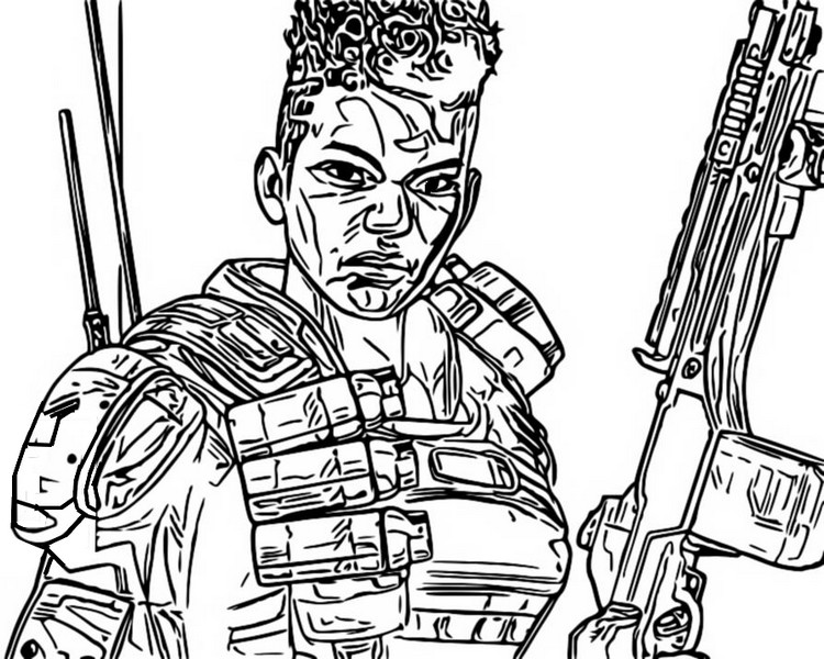 Free Bangalore from Apex Legends Coloring Pages printable