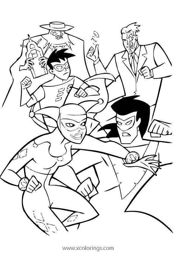 Batman And Robin Coloring Page Characters Xcolorings Com
