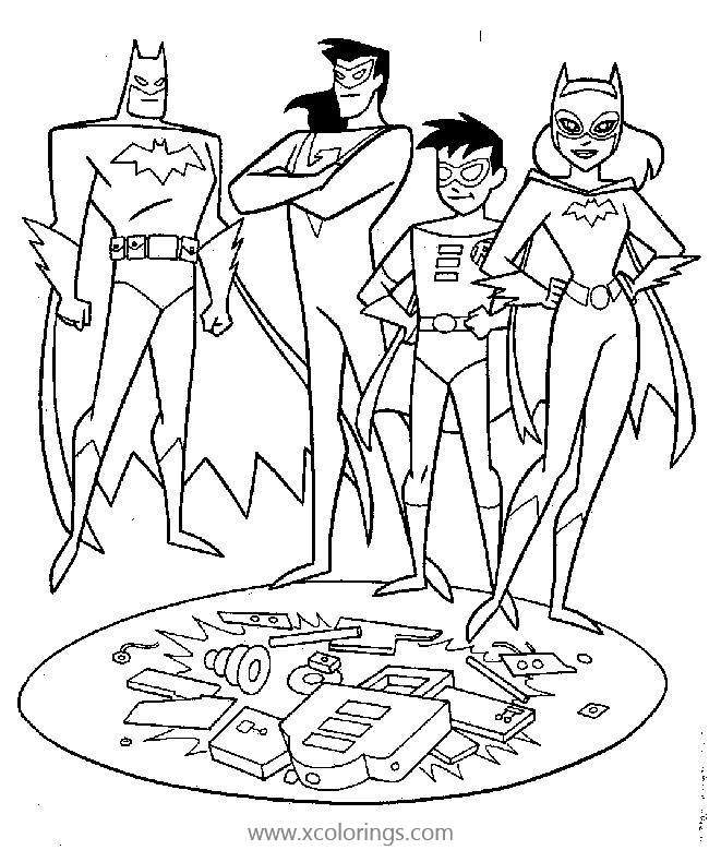 Batman And Robin Coloring Page With Batgirl Xcolorings Com