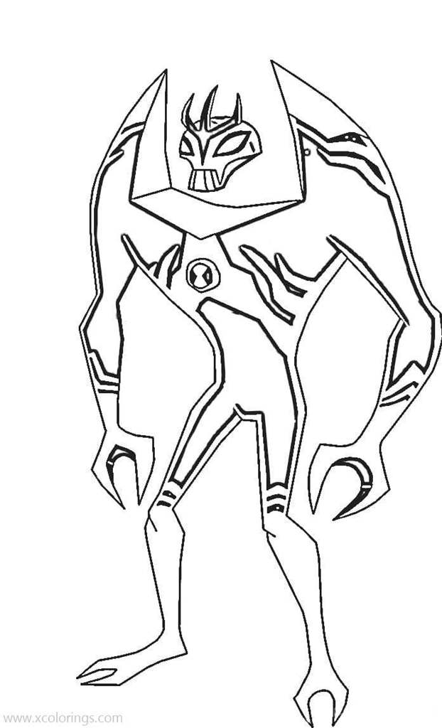 - Ben 10 Lodestar Coloring Pages - XColorings.com