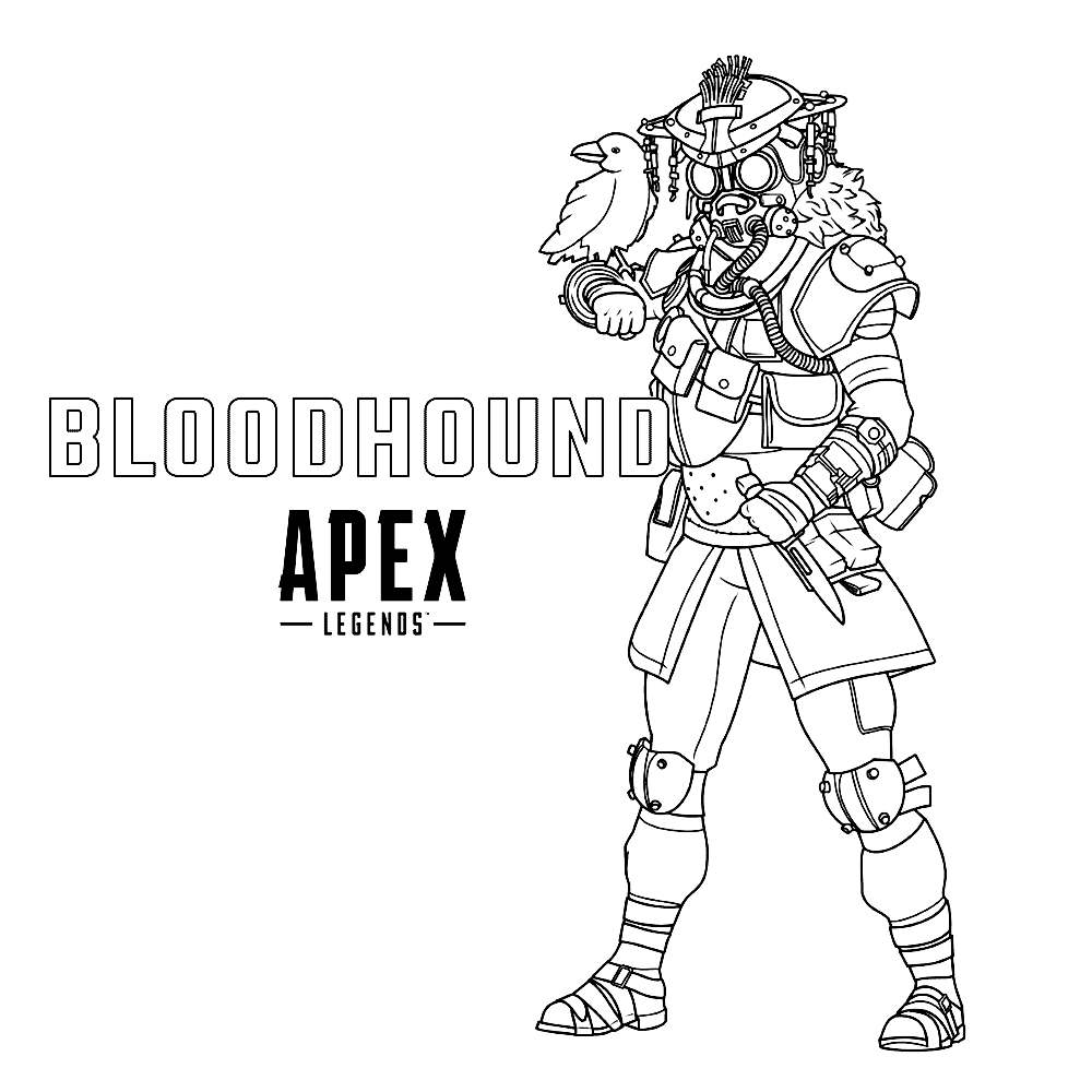 Bloodhound From Apex Legends Coloring Pages Xcolorings Com