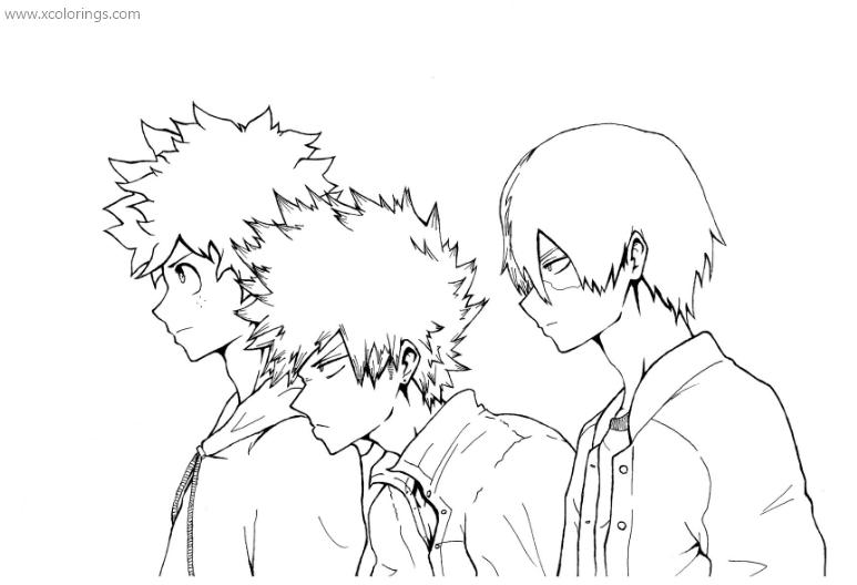 Boku No Hero Academia Coloring Pages Characters Xcolorings Com