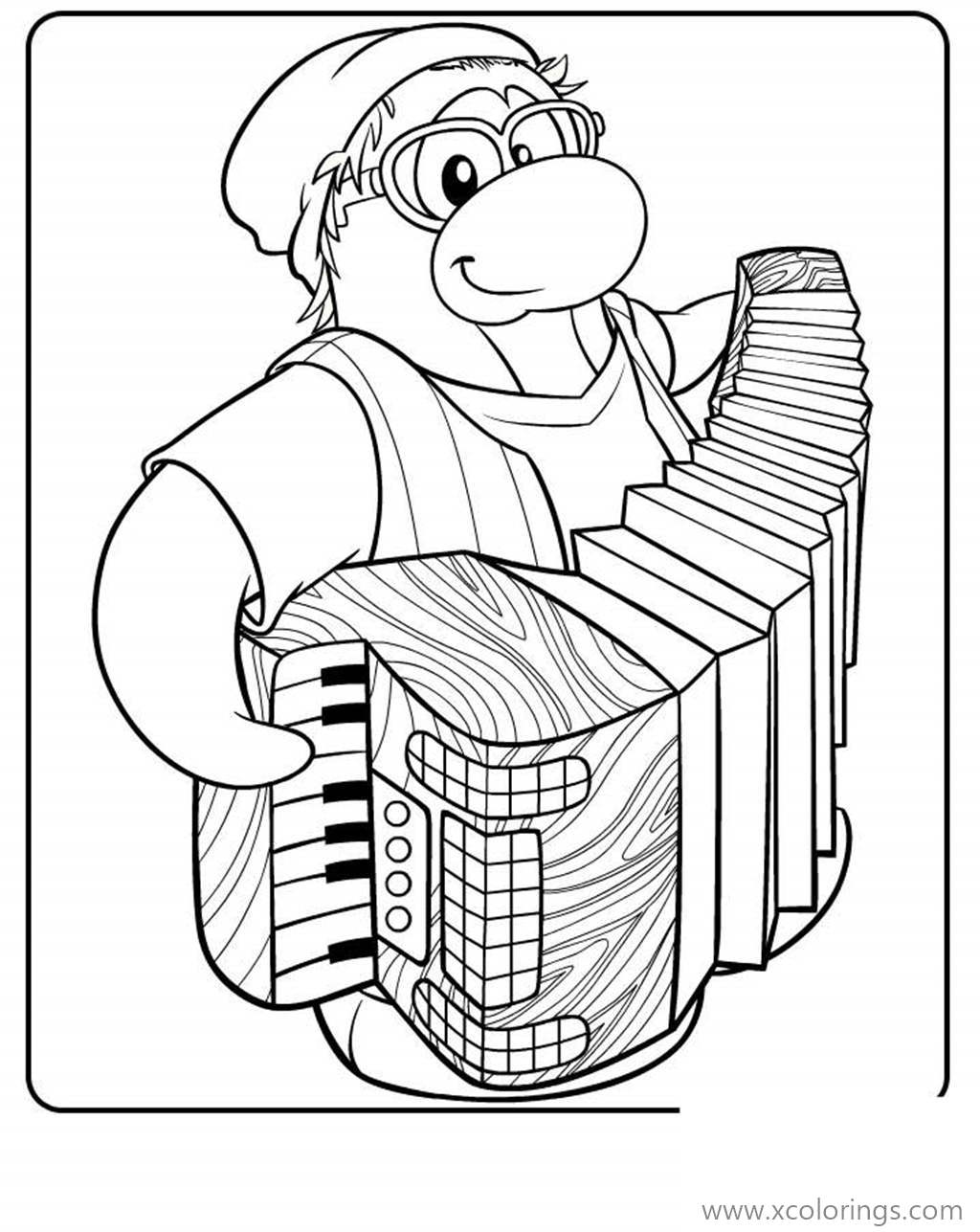 Free Club Penguin Coloring Pages Aunt Arctic printable