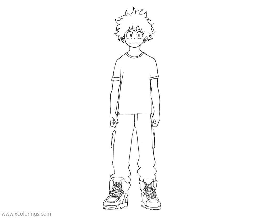 Cute Boy From Boku No Hero Academia Coloring Pages Xcolorings Com