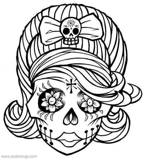Dia De Los Muertos Calavera Girl Coloring Page Xcolorings Com