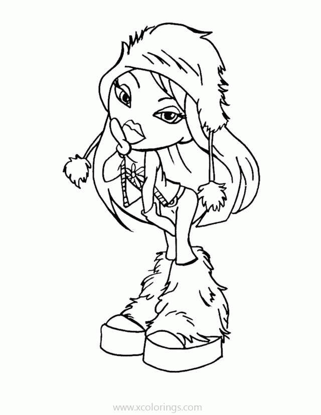 Free Doll from Bratz Coloring Pages printable