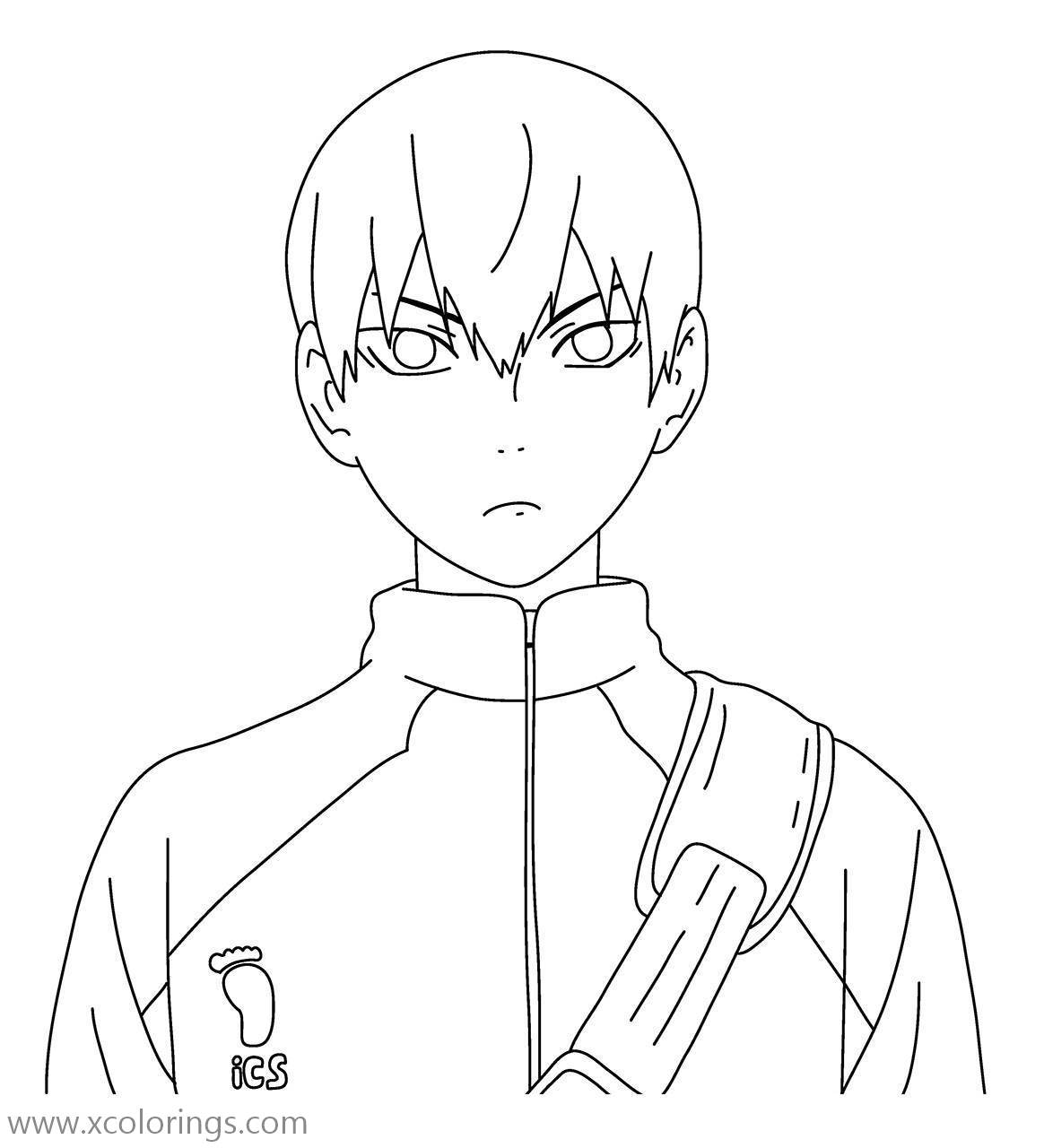 Free Haikyuu Coloring Pages Kageyama printable
