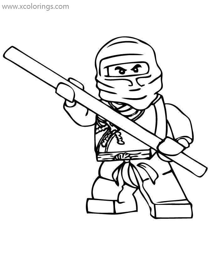 - Lego Ninjago Coloring Pages Cole The Earth Ninja - XColorings.com