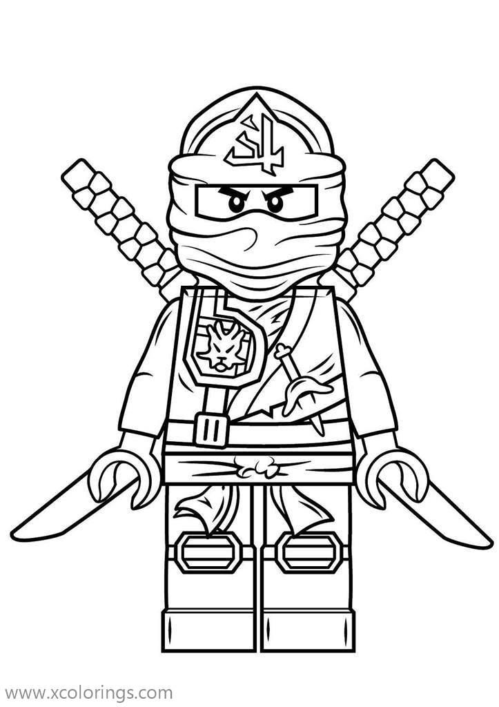 Lego Ninjago Green Ninja Coloring Pages Lloyd - XColorings.com