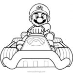 Mario Kart Coloring Pages Toad In The Car Xcolorings Com