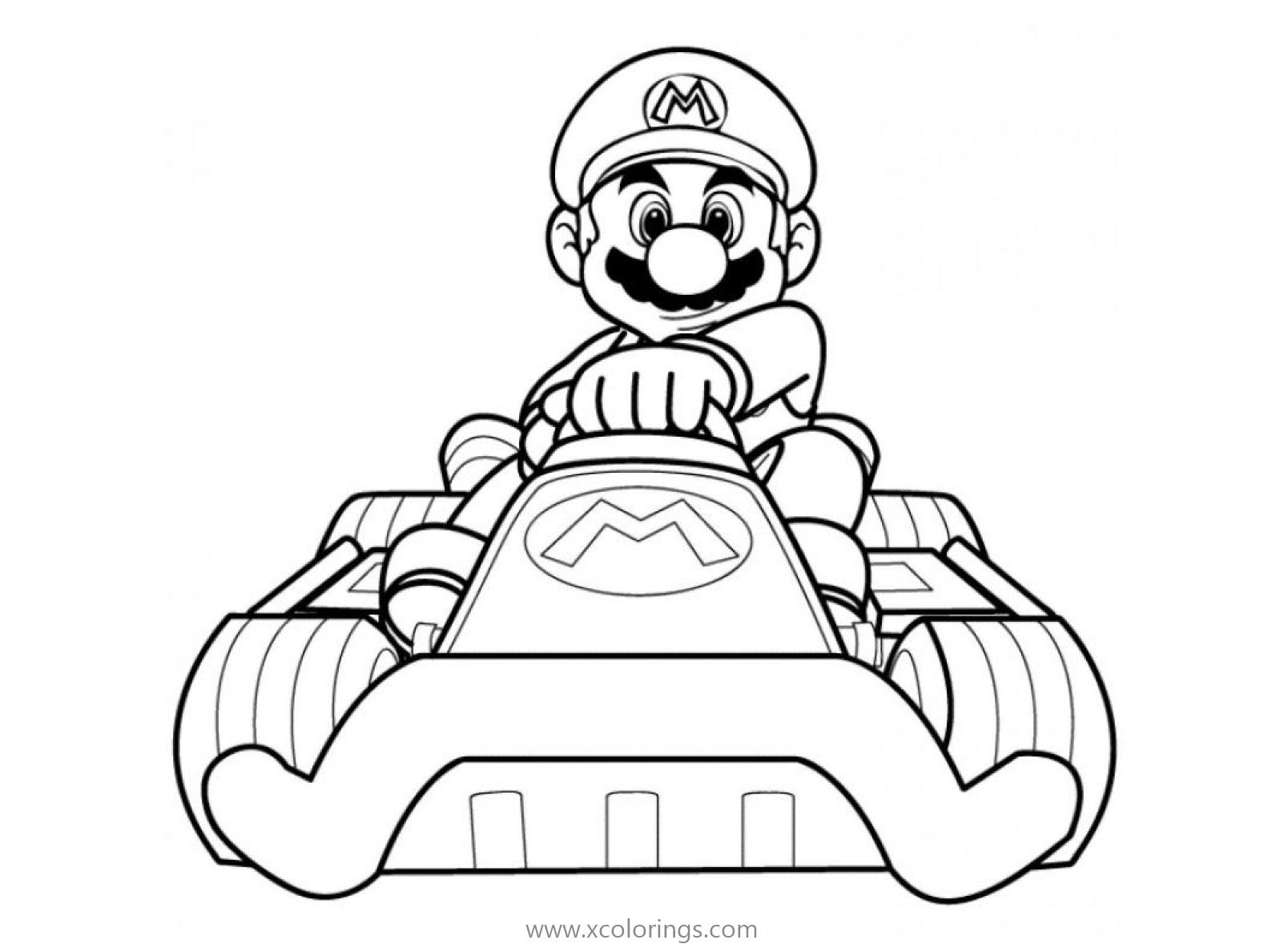 Mario Kart 8 Coloring Pages Xcolorings Com