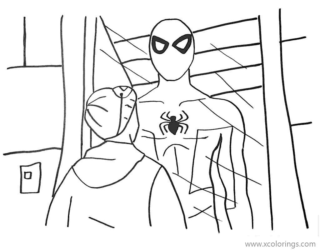 Miles Morales Coloring Pages The Boy Meet Spiderman ...